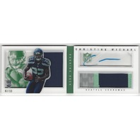 Christine Michael Seattle Seahawks 2013 Panini Playbook Autograph Patch /10 RC