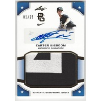Carter Kieboom 2015 Leaf Perfect Game Auto Jersey Patch 1/25 Nationals Prospect