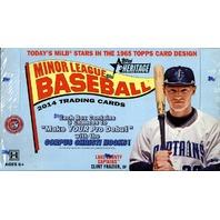 2014 Topps Heritage Minor League Edition Baseball Hobby Box Sealed