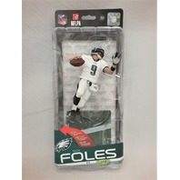 2014 Nick Foles All white uniform Variant McFarlane's Sportspicks Figure Philadelphia Eagles SPD NFL 35 NFLPA Numbered 0550 of 1000 Silver Collector Level