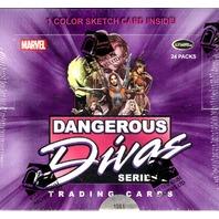 2014 Marvel Dangerous Divas Series 2 Hobby Box (Rittenhouse)(24 Pack s)(Sealed)
