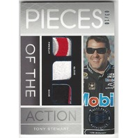 Tony Stewart NASCAR 2013 Red line Pieces of the Action Suit Glove Shoe /10