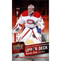 2015/16 Upper Deck Series 1 Hockey Hobby Trading Cards Box (Sealed)