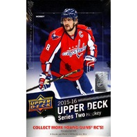 2015/16 Upper Deck Series 2 Hockey Hobby Box (Sealed)