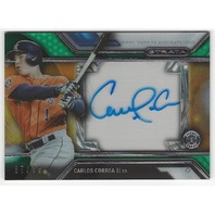 Carlos Correa Houston Astros Topps Strata Low Numbered Autograph /75