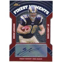BRIAN LEONARD 2007 Topps Finest Moments Rookie Chrome Autograph Auto Card