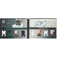 Lamar Miller Miami Dolphins 2013 Panini Playbook Autograph Mllrtime RC /25