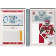 Chris Conley Kansas City Chiefs 2015 Panini Rookie Playbook Autograph Patch /49