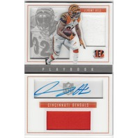 Jeremy Hill Cincinnati Bengals 2015 Panini Playbook Autograph Patch /49
