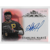 STARLING MARTE 2013 Topps Tribute  auto /35 Pittsburgh Pirates Autograph