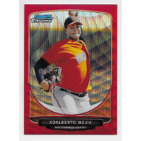 ADALBERTO MEJIA 2013 Topps Bowman Chrome Red wave refractor /25 SF Giants P