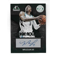 MALCOLM LEE 2012-13 Totally Certified Rookie Roll Call Green auto /5 Timberwolves