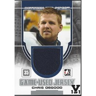 CHRIS OSGOOD 2013-14 Vault In The Game ITG Between the Pipes Silver Version 1/1