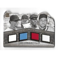 MARTINEZ/BLYLEVEN/GIBSON/SMOLTZ 2016 Pantheon 3000 StrikeOut Club patch /15
