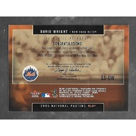 DAVID WRIGHT 2005 Fleer America's National Pastime Signature Swings auto #SS-DW