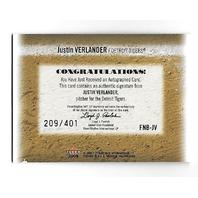 JUSTIN VERLANDER 2005 Fleer National Pastime First Name Bases /401 Auto Astros
