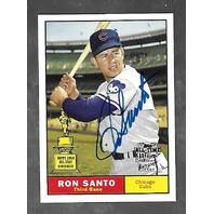 RON SANTO 2004 Topps All Time Fan Favorites RC auto #FFA-RS Chicago Cubs