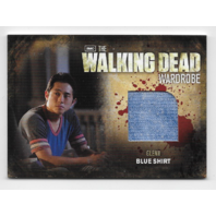 Glenn 2012 Cryptozoic Walking Dead season 2 Wardrobe Card M15 Blue Shirt