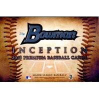 2015 Bowman Inception Baseball Hobby 8 Box Case