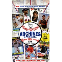 2015 Topps Archives Baseball Hobby 10 Box Case (Sealed)