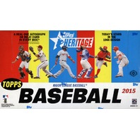 2015 Topps Heritage Baseball Hobby 12 Box Case (Sealed)