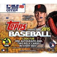 2015 Topps Series 2 Baseball Jumbo HTA Hobby Box