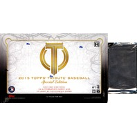2015 Topps Tribute Special Edition Baseball Hobby 12 Pack Box Case w/ Relic Pack