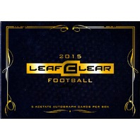 2015 Leaf Clear Football Hobby 12 Box Case (Sealed)