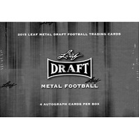2015 Leaf Metal Draft Football Hobby 15 Box Case (Sealed)
