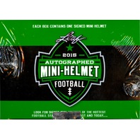 2015 Leaf Autographed Mini Helmet Football 8 Box Case (Sealed)