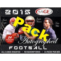 2015 Sage Autographed Football Hobby Pack