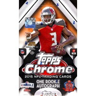 2015 Topps Chrome Football Hobby Box (Sealed)