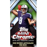 2015 Topps Chrome Mini Football Box (Sealed)