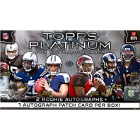 2015 Topps Platinum Football Hobby Box (20 Pack s)(Sealed)