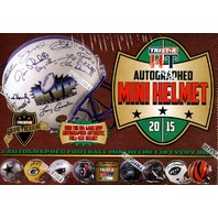 2015 Tristar Hidden Treasures Football Autographed Mini Helmet 10 Box Case