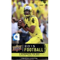2015 Upper Deck Football Hobby 12 Box Case (Sealed)