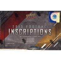 2015 Upper Deck Inscriptions Football Hobby 16 Box Case