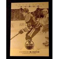 Connor McDavid 2016 Artifacts Aurum Gold #A-10 Edmonton Oilers Playoffs