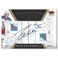 Mats Zuccarello 2011-12 Panini Crown Royale Scratching the Surface Rangers Auto