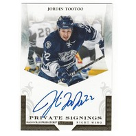 Jordin Tootoo Nashville Predators 2011 Panini Private Signings Autograph #Too
