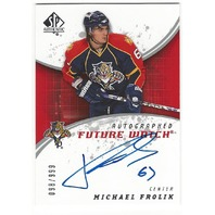 Michael Frolik 2008-09 Florida Panthers Future Watch Rookie Autograph /999