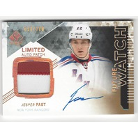 Jesper Fast NY Rangers 2013-14 Future Watch Rookie Autograph Patch /100