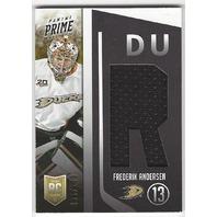 Frederik Andersen Anaheim Ducks 2013-14 Panini Prime Rookie Jersey /100