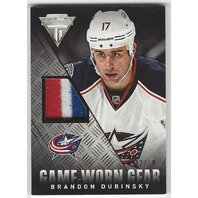 Brandon Dubinsky Columbus Blue Jackets Titanium Game Worn Gear /50