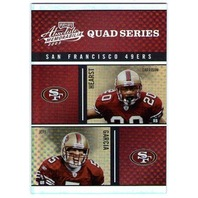 2003 Absolute Quad Series Barlow Terrell Owens Hearst Jeff Garcia 49ers Card
