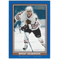 Brent Seabrook 2005-06 Beehive Blue Rookie Card #122 Chicago Blackhawks
