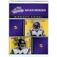 2003 Absolute Quad Series Randy Moss Culpepper Chamberlain Bennett Vikings Card