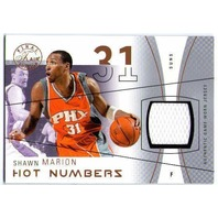 SHAWN MARION 2003-04 03/04 Flair Hot Numbers 74/75 Game Used Jersey Swatch Card