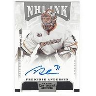 Frederik Andersen Anaheim Ducks 2013-14 Panini Contenders NHL Ink Autograph