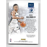 WADE BALDWIN IV 2016-17 Panini Day NBA Galactic Window patch /25 Grizzlies RC
